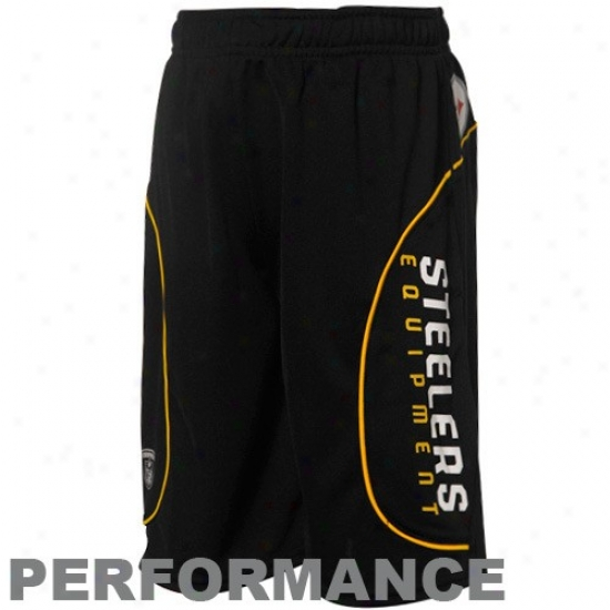 Reebok Pittsburgh Steelers Youth Black Performance Shorts