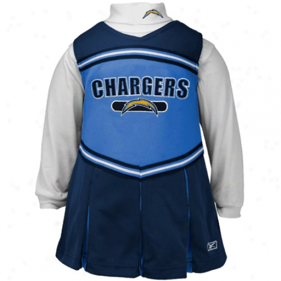 Reebok San Diego Chargers Ships of war Blue Infant 2-piece Cheerleader Dress