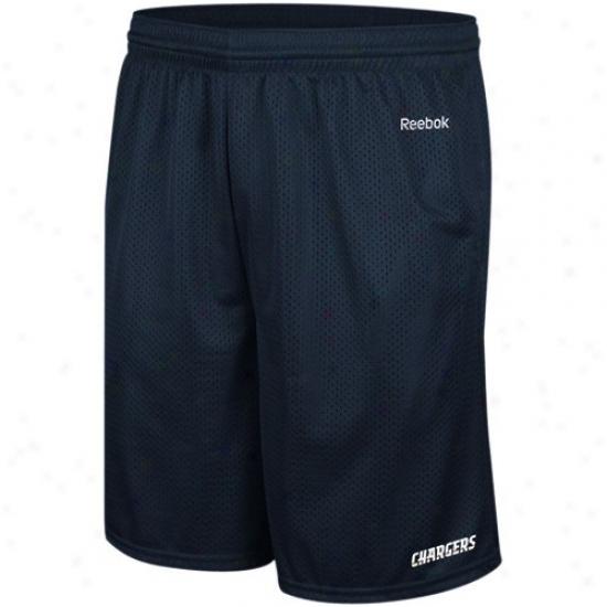 Reebok San Diego Chargers Navy Blue Johnson Mesh Shorts