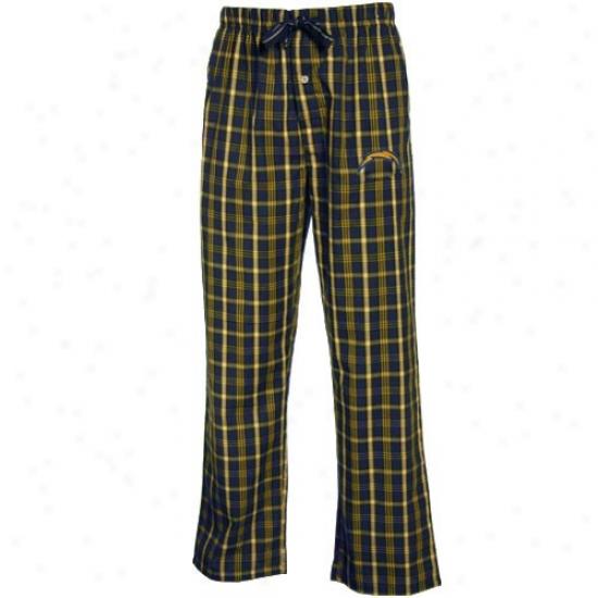 Reebok San Diego Chargers Navy Blue Plaid Genuine Pajama Pants