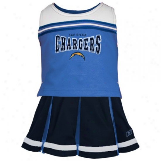 Reebok San Diego Chargers Youth Light Blue 2-piece Cheerleader Dress