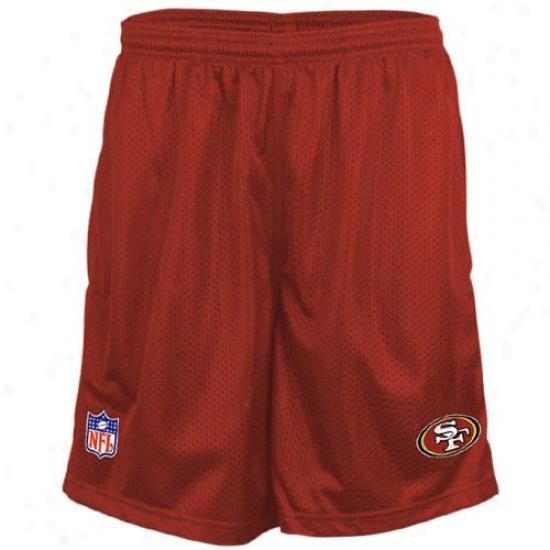 Reebok San Francisco 49ers Cardinal Coaches Ensnare Shorts