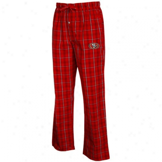 Reebok San Francisco 49ers Cardinal Plaid Genuine Pajama Pants