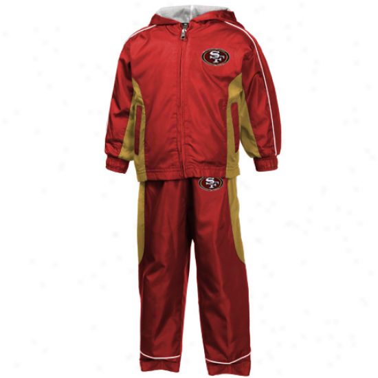 Reebok San Francisco 49ers Toddler Scarlet Comprehensive Zip Hoody Jacket & Pants Set