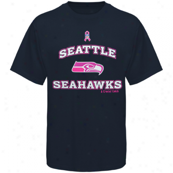 Reebok Seattle Seahawks Black Breast Cancer Awareness T-shirt