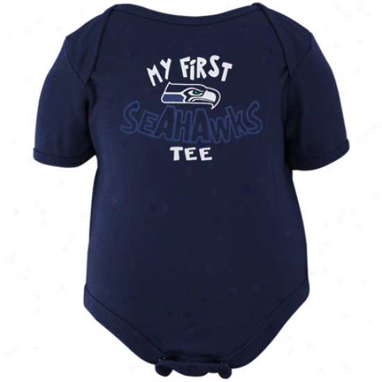 Reebok Seattle Seahawks Infant Navy Blue The Other First Creeper