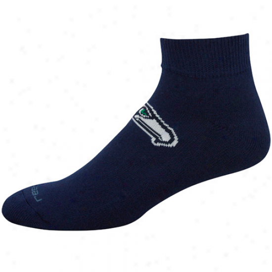 Reebok Seattle Seahawks Navy Blue Team Sun Ankle Socks
