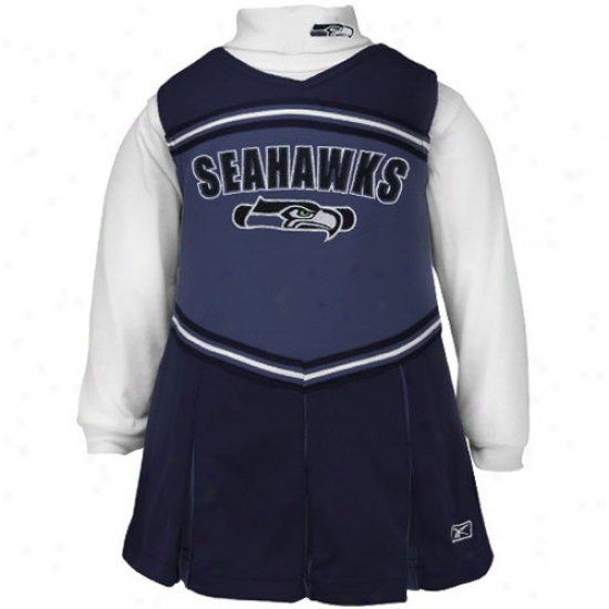 Reebok Seattle Seahawks Peaceful Blue Prescuool 2-piece Cheerleader Get