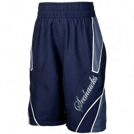 Reebok Seattle Seahawks Youth Sea Blue Axel Boardshorts
