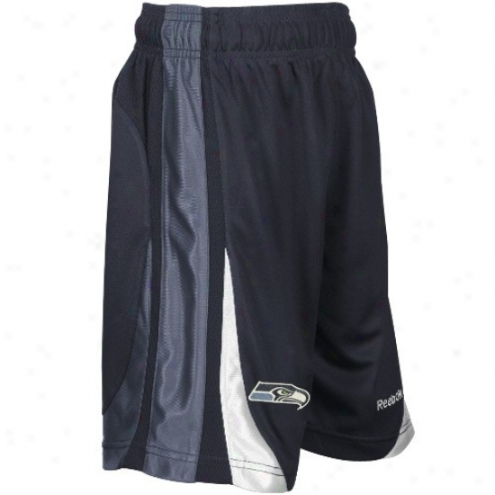 Reebok Seatttle Seahawks Youth Sea Blue The Thirty-five Basketball Shorts