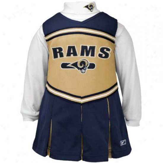 Reebok St. Louis Rams Navy Blue Preschool 2-piece Cheerleader Dress