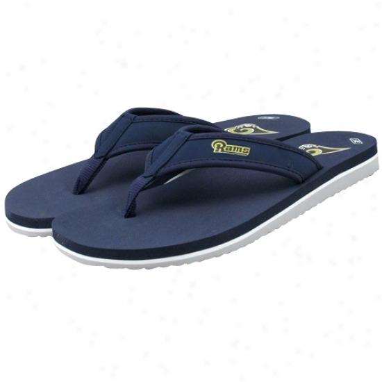 Reebok St. Louis Rams Navy Blue Summeertime Flip Flops