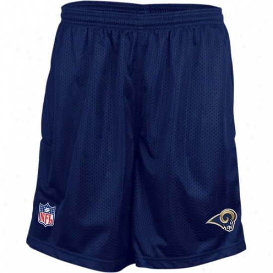Reebok St. Lpuis Rams Ships of war Blue Youth Coaches Mesh Shorts
