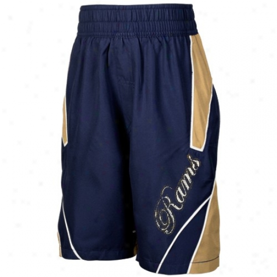 Reebok St. Louis Rams Youth Navy Blue Axel Boardshorts