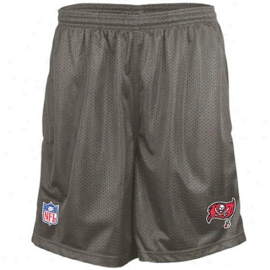 Reebok Tampa Bay Buccaneers Grey Coaches Mesh Shorts