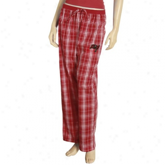 Reebok Tampa Bay Buccaneers Ladies Red Plaid Highland Pajama Pants