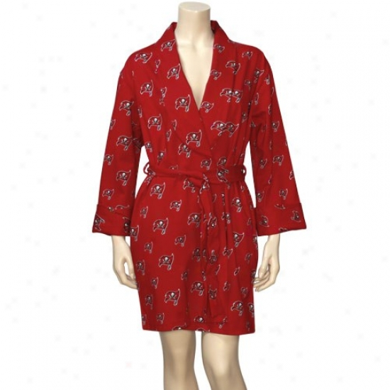 Reebok Tampa Bay Buccaneers Ladies Red Tandem Robe