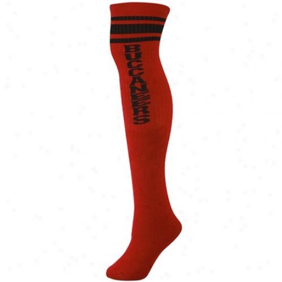 Reeboi Tampa Bay Buccaneers Ladies Red Tube Socks