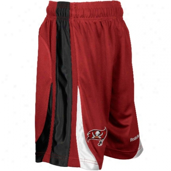 Reebok Tampa Bay Buccaneers Preschool Red The Thirty-five Basketball Shorts