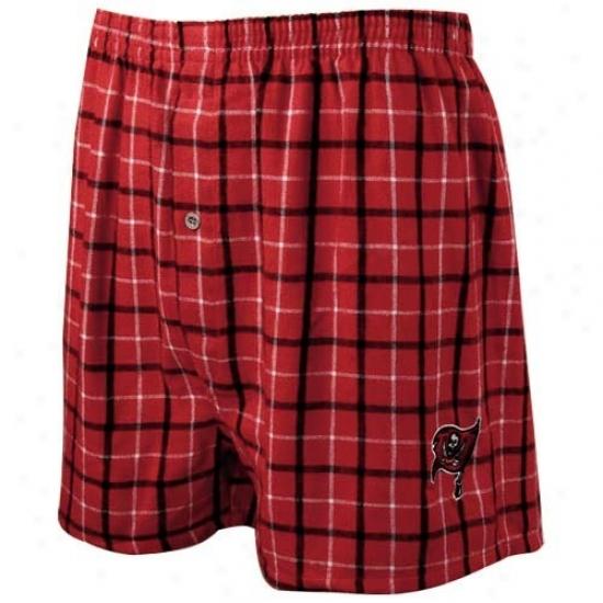 Reebok Tampa Bay Buccaneers Red Gridiron Boxer Shorts