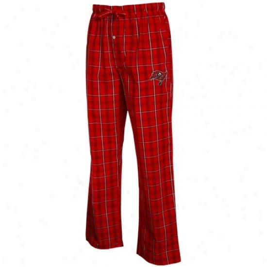 Reeok Tampa Bay Buccaneers Red Plaid Genuine Pajama Pants