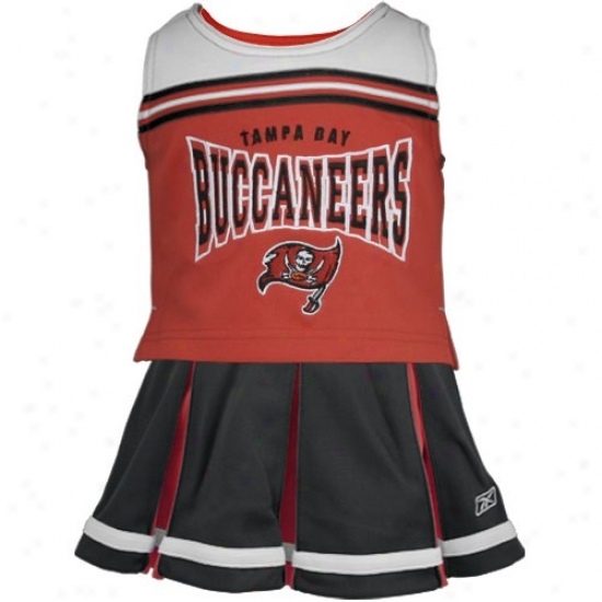 Reebok Tampa Bay Buccaneers Red Preschool 2-piece Cheerleader Dress