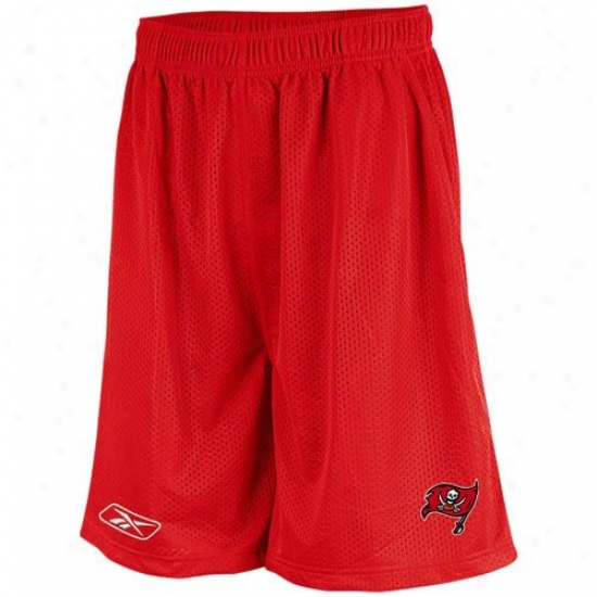 Reebok Tampa Bay Buccaneers Red Youth Coaches Mesh Shorts