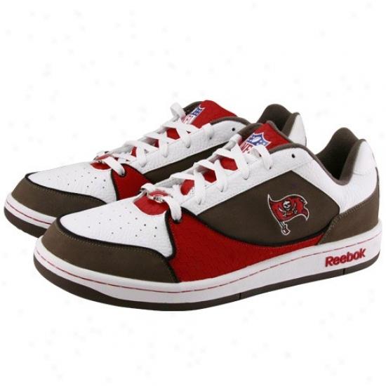 Reebok Tampa Bay Buccaneers White-pewter-red Recline Ph3 Tennis Shoes