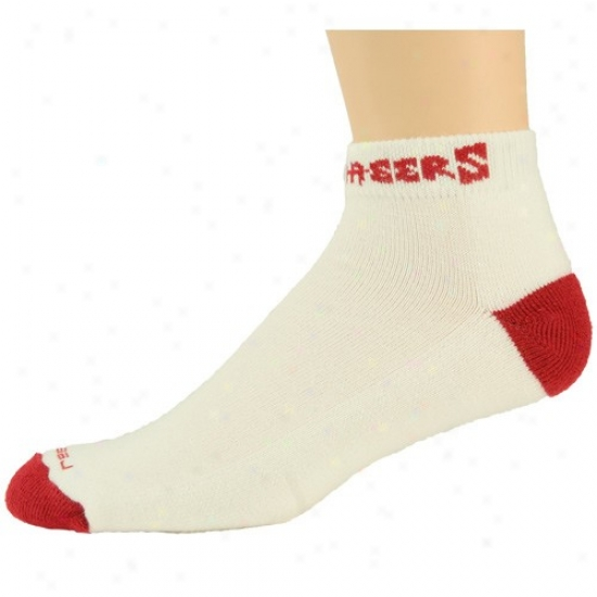 Reebok Tampa Bark Buccanee5s White-red Low-cut Socks