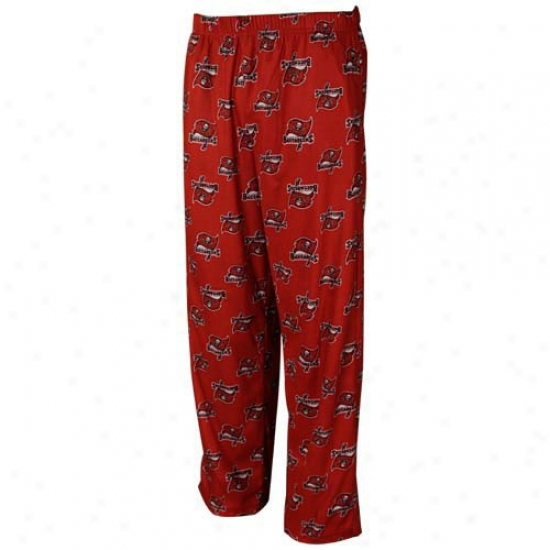 Reebok Tampa Bay Buccaneers Youth Red Printed Team oLgo Pajama Pants