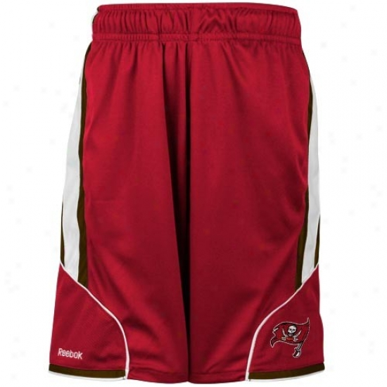 Reebok Tampa Bay Buccaneers Youth Red The Thirty-five Mexh Shorts