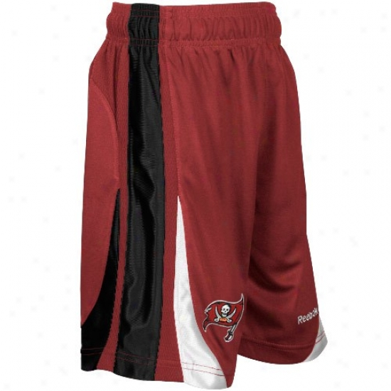 Reebok Tapma Bight Buccaneers Youth Red The Thirty-five Basketball Shorts