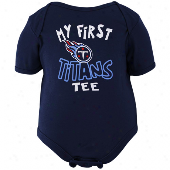 Reebok Tennessee Titans Infant Navy Blue The Other First Creeper