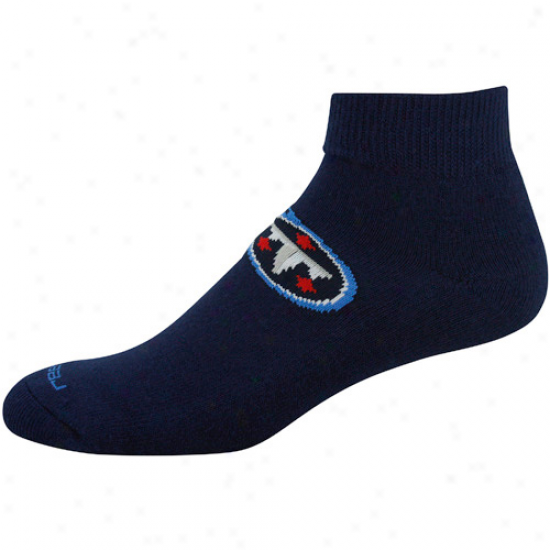 Reebok Tennessee Titans Navy Blue Team Sun Ankle Socks