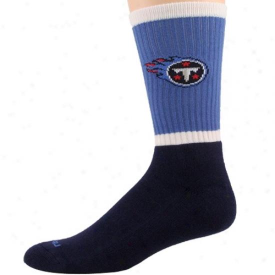 Reebok Tennessee Titans Royal Blue-navy Blue Crew Socks
