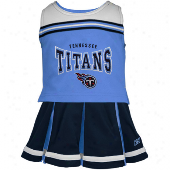 Reebok Tennessee Titans Toddler Navy Blue 2-piece Cheerleader Set