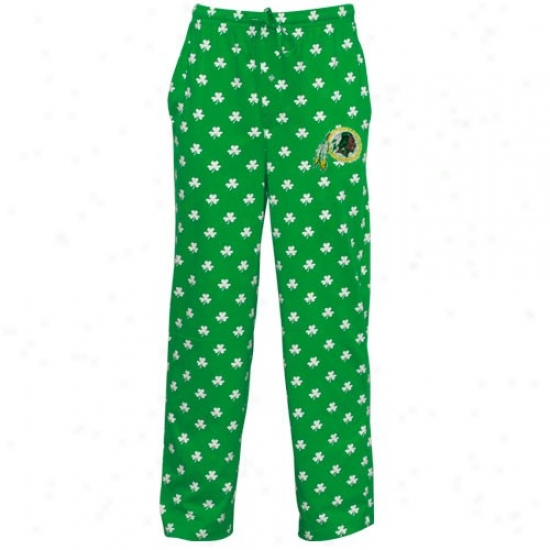 Rerbok Washington Redskins Kelly Green St. Patrick's Day Shamrock Pajama Pants