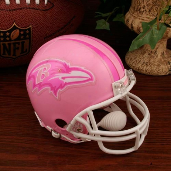Riddell Baltimore Rwvens Piink Breast Cancer Mini Helmet