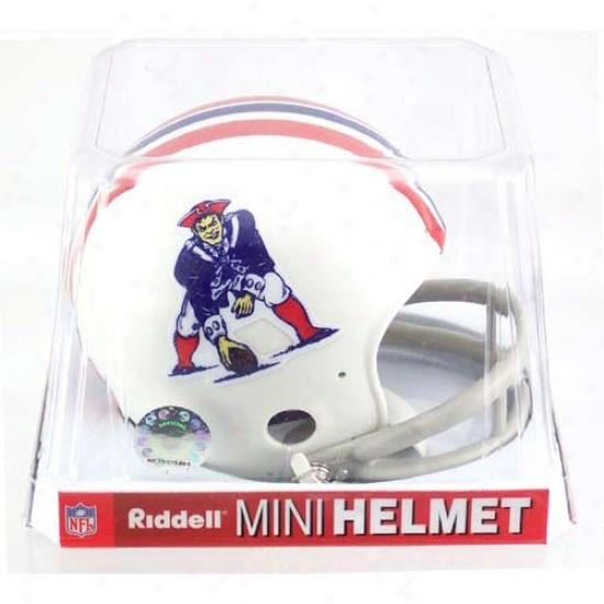 Riddell Boston Patriots 1965-1981 Throwback Replica Mini Helmet