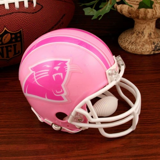 Riddell Carolina Panthers Pink Breast Cancer Mini Helmet