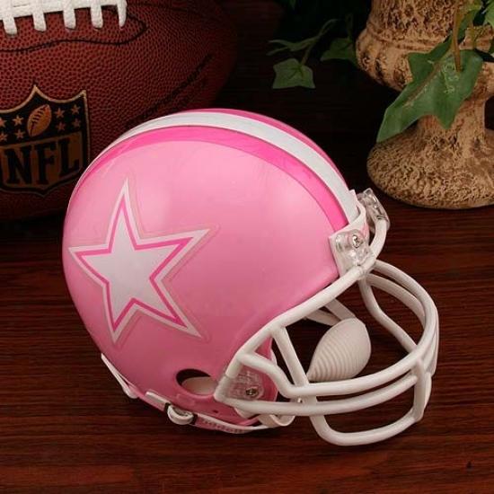 Riddell Dallas Cowboys Pink Breast Cscer Mini Helmet