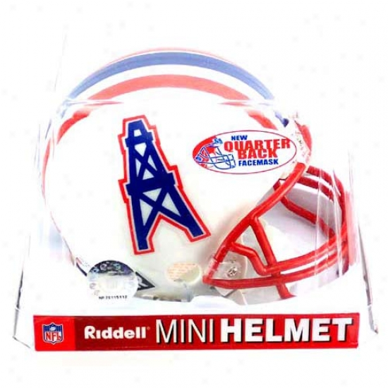 Riddell Houston Oilers 1981-1996 Throwback Replica Mini Helmet