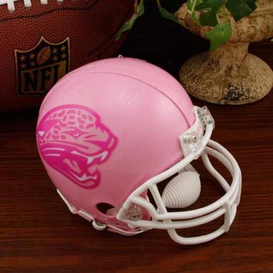 Riddell Jacksohville Jagaurs Pink Breast Cancer Mini Helmet