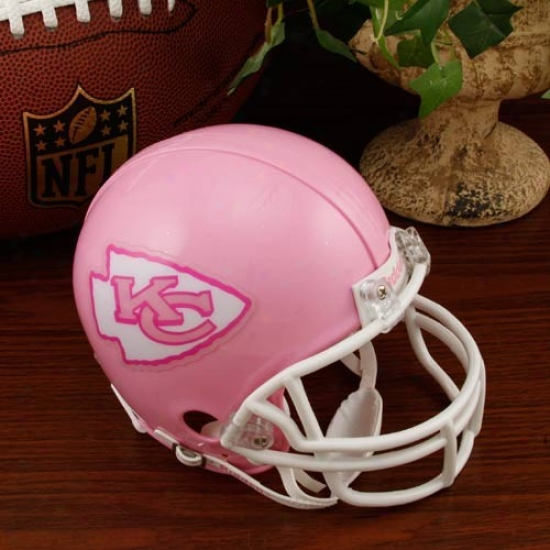 Riddell Kansas City Chiefs Pink Breast Cancer Mini Helmet