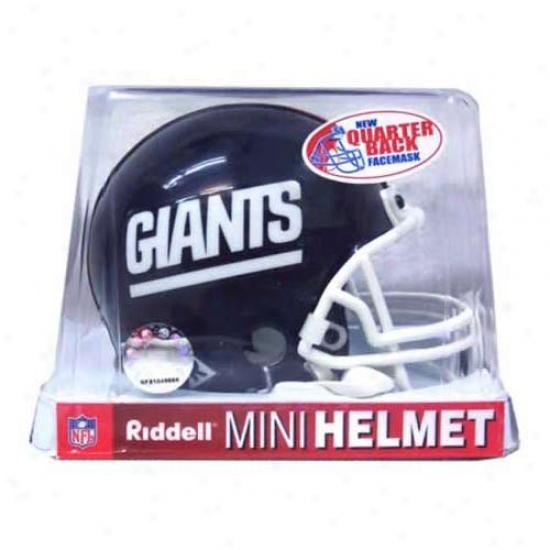 Riddell New York Giants 1981-1999 Throwback Autograph copy Mini Helmet