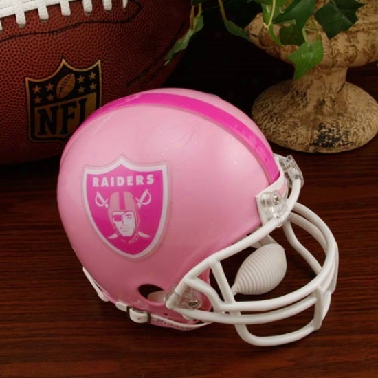 Riddell Oakland Raiders Stab Breast Cancer Mini Helmet