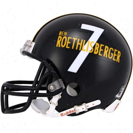 Riddell Pittsburgh Steelers #7 Ben Roethlisberger Player Replica Mini Hlmet