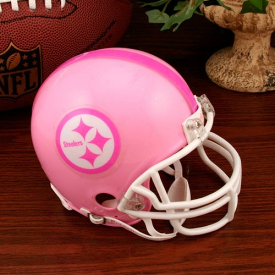 Riddell Pittsburgh Steelers Pink Breast Cancer Mini Helmet