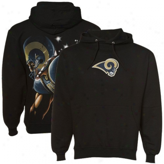 Saint Louis Ram Sweat Shirt : Sanit Louis Ram Dark Game Face Sweat Shirt
