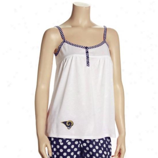 Saint Louis Ram T Shirt : Reebok Saint Louis Ram Ladies White Galaxy Tank Cap